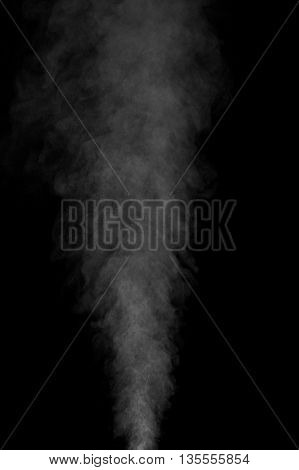 Abstract white water vapor on a black background. Texture. Design elements. Abstract art. Steam the humidifier. Macro shot. poster