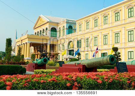 Old Architecture. Ministry Of Defence Building. The Famous Bangkok Building.