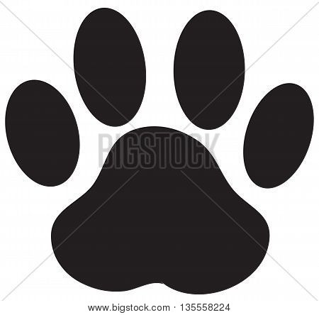 Paw Print Dog Paw Vector track imprint