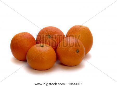 Orange Tangerine Isolated In White