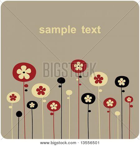 Vector fondos floral design