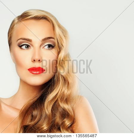 Spa Girl Portrait. Healthy Skin and Blond Hair. Beautiful Woman