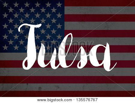 Tulsa written with hand-written letters