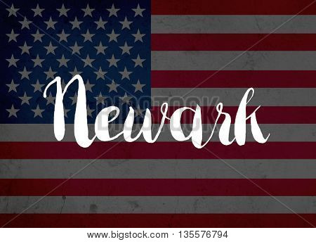 Newark written with hand-written letters