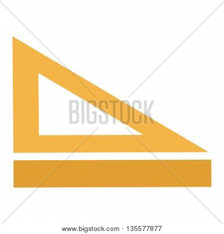 simple flat design of ruler and set square vector illustration