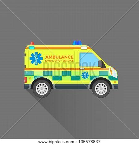 Ambulance Emergency Service Car Illustration.
