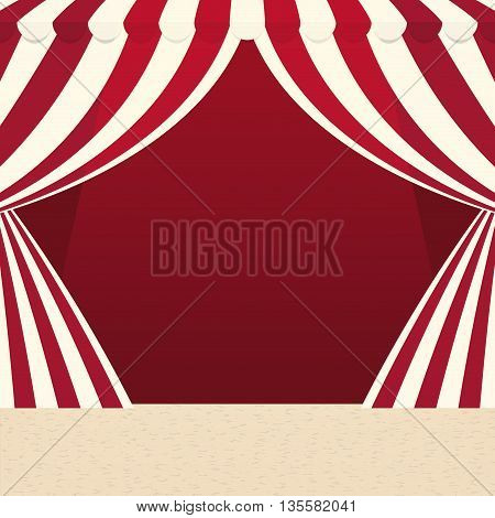 Circus and carnival concept represented by tent icon over isolated and flat background