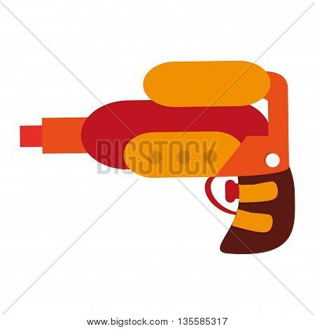 flat design colorful space toy gun vector illustration