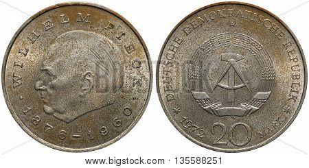 Commemorative Coin Of The German Democratic Republic With Portrait Of Wilhelm Pieck