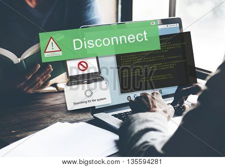Error Disconnect Caution Inaccessible Concept