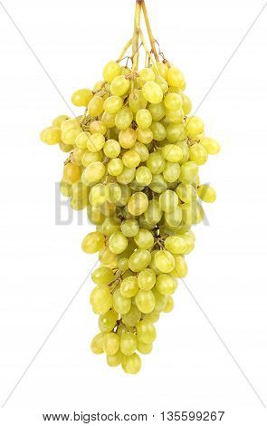 Seedless grapes isolated on a white background