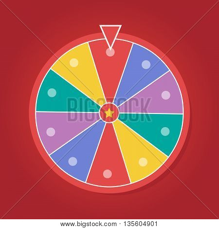 Lucky wheel vector template. Color lucky wheel eps10