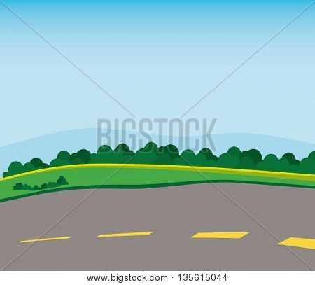 Stree concept over landscape background with grass and trees icon