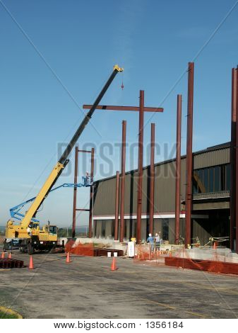 Workers And Steel Beams