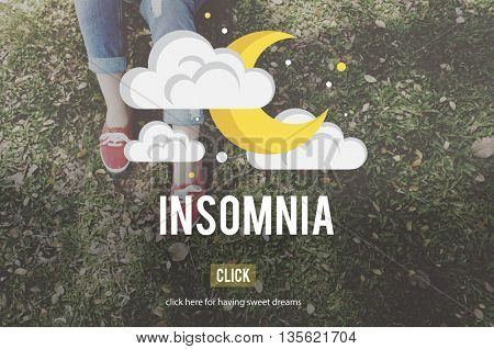 Insomnia Hangover Bad Dreams Depression Cocept
