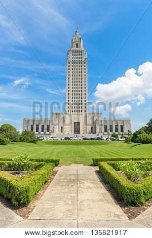 Louisiana State Capitol in Baton Rouge, Louisiana, USA.