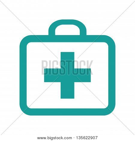Medical cand Heatlh care concept represented by kit icon over flat and isolated background