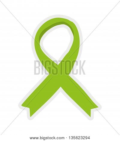 Medical cand Heatlh care concept represented by ribbon icon over flat and isolated background
