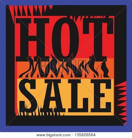 Hot sale sign or symbol, vector illustration
