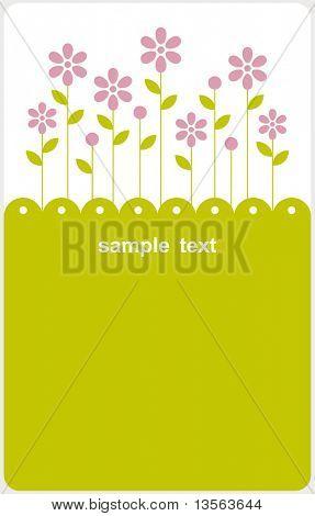 Vektor floral Kartengestaltung