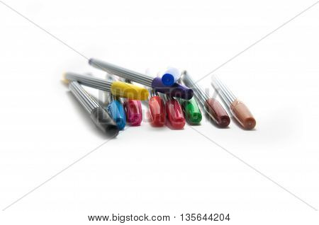 Object on white - colored soft-tip pen