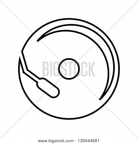cd player isolated icon design, vector illustration  graphic