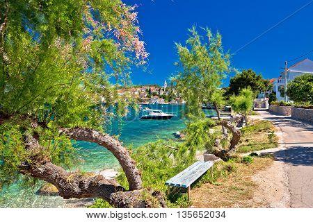 Kali village on Ugljan island turquoise beach view Dalmatia Croatia