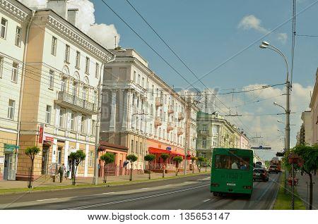 16.06.2016.Byelorussia.Gomel.Sovetskaya street-the main street of the city.It is the longest and beautiful.