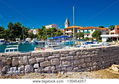 Sveti Filip I Jakov village waterfront view Dalmatia Croatia poster
