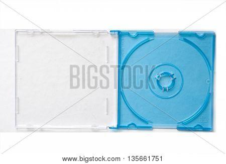 blue box for mini cd on white