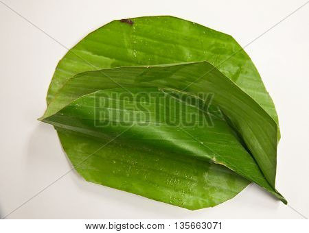 empty of greenleaf banana for Thai dessert