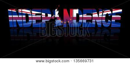 Independence text with UK map and British EU flags 3d illustration