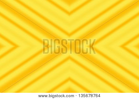 Illustration of an abstract yellow and orange x-pattern