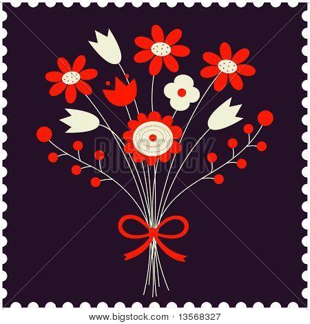 Bouquet von flowers.vector Abbildung