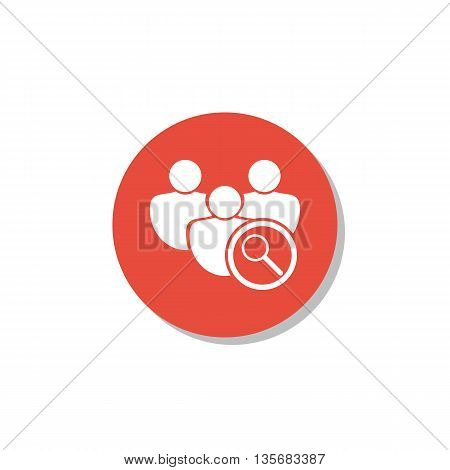 User Zoom Icon In Vector Format. Premium Quality User Zoom Symbol. Web Graphic User Zoom Sign On Red