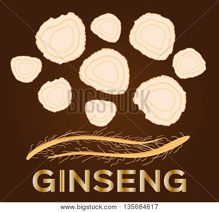 ginseng vector , ginseng of small piece , ancient traditional medicine