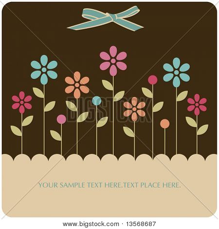 Floral card , vector illustration