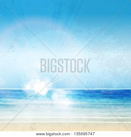 Sky summer poster, easy all all editable