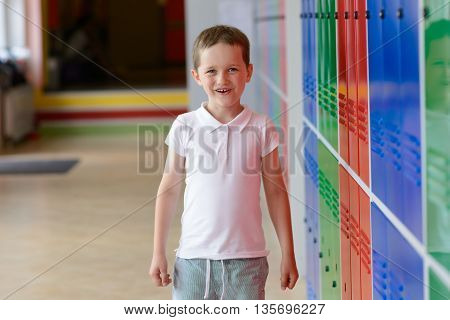 7 Years Old Schoolboy At Last Day Of School