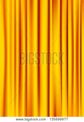golden yellow silky curtain texture background. vector