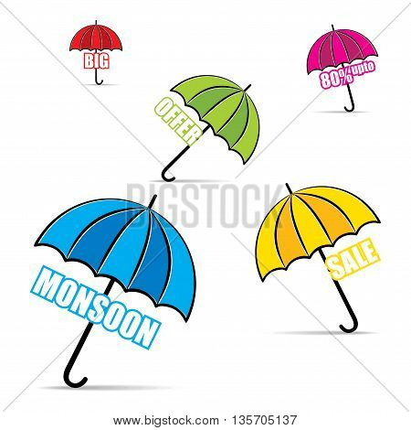 big monsoon offer promotion banner design vector