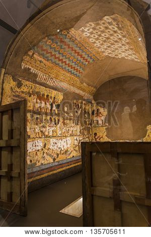 Chapel Of Maya In Museo Egizio In Turin