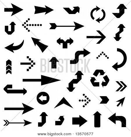 lots of black arrows