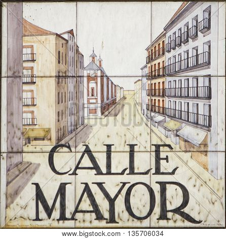 Madrid Street Sign