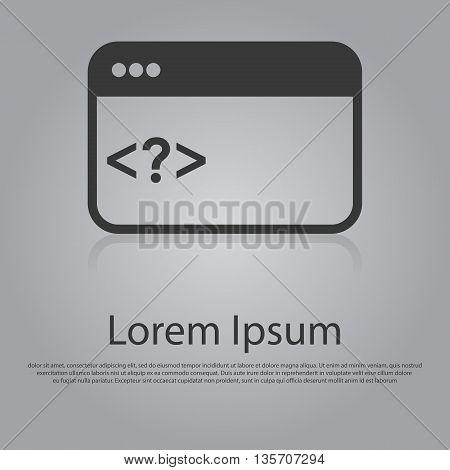 Vector Icon Of Web Coding Concept