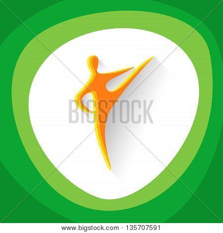Taekwondo Sport Game Logo Competition Icon Vector Illustration