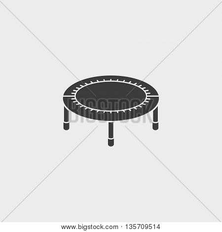 Bouncing bed icon fish icon in a flat design in black color. Vector illustration eps10
