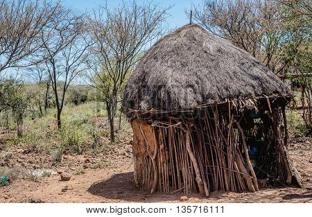 Typical home of the Masai in Kenya Africa