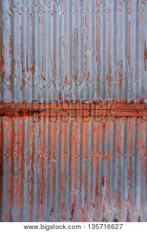 Old Rust On Zinc Wall