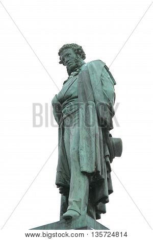 Monument to the famous Russian poet Alexander Pushkin from 1880 in Moscow